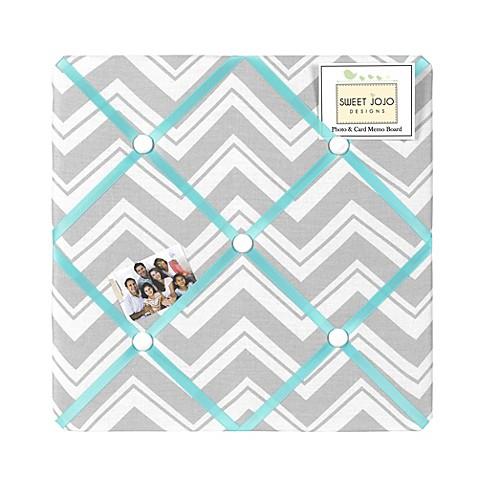 Sweet jojo designs zig zag chevron memo board in turquoise for Design stuhl zig zag