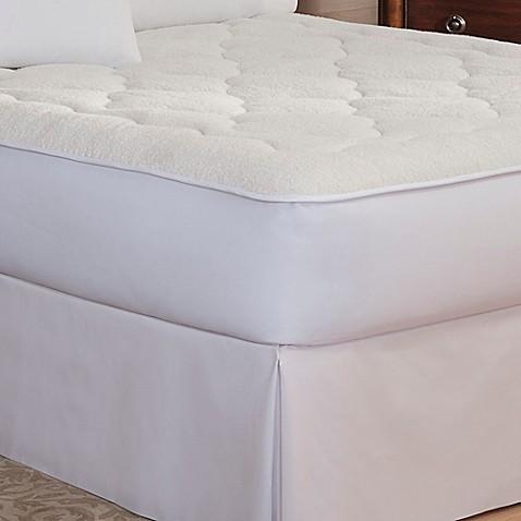 Buy Therapedic Sherpa Reversible Twin Mattress Pad From Bed Bath Beyond