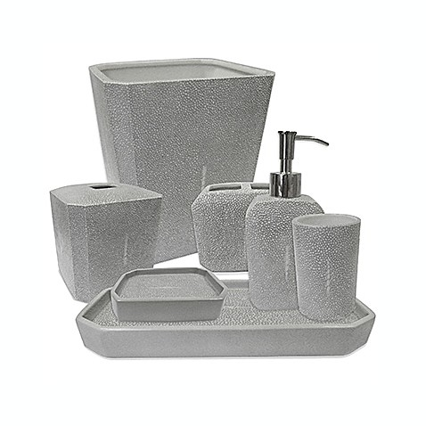 Kassatex shagreen bath accessory collection bed bath for Bathroom accessories collection