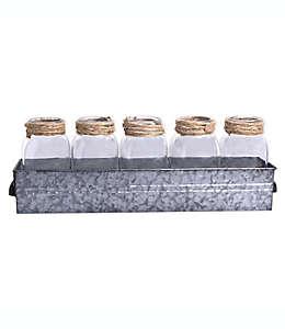 Set de tarros Bee & Willow™ con base de metal galvanizado