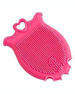 Guante de silicón para limpieza facial en rosa