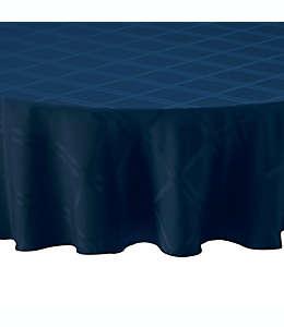Mantel liso redondo de poliéster Wamsutta® color azul índigo