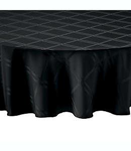 Mantel liso redondo de poliéster Wamsutta® de 1.77 m color negro