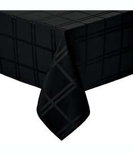 Mantel liso rectangular de poliéster Wamsutta® de 1.52 x 2.59 m color negro