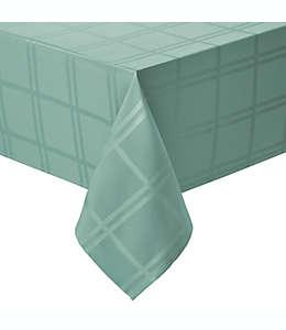 Mantel liso rectangular de poliéster Wamsutta® de 1.52 x 2.59 m color verde salvia