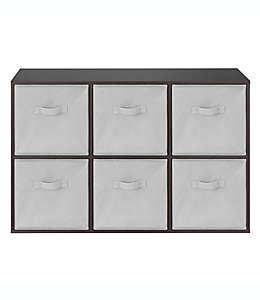 Repisa de madera Relaxed Living organizadora de 6 estantes color negro