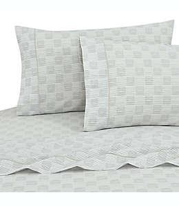 Set de sábanas individuales de algodón SALT™ a cuadros/rayas color gris