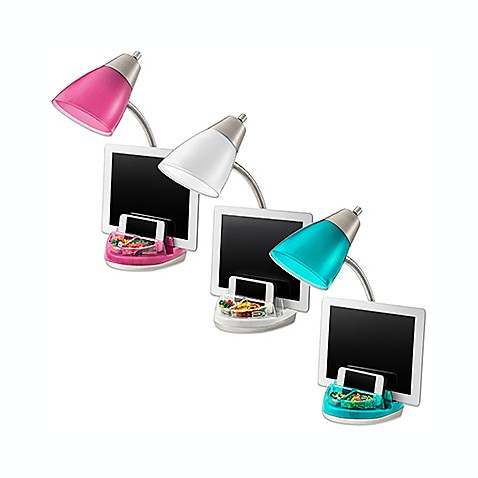 Equip Your Space Functional Tablet Organizer Desk Lamp