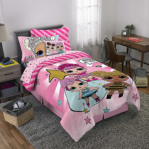 Lol Surprise 3 Piece Reversible Twin Full Comforter Set In Pink Bed Bath Beyond