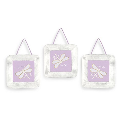 Sweet Jojo Designs Dragonfly Dreams 3 Piece Wall Hanging