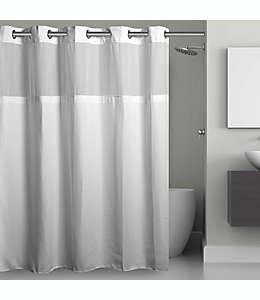 Cortina de baño de poliéster Hookless® con diseño tipo rejilla, 1.37 x 2.03 m color blanco