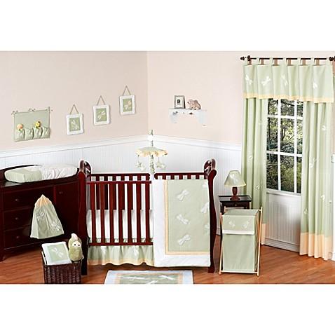 Sweet jojo designs dragonfly dreams 11 piece crib bedding set in green