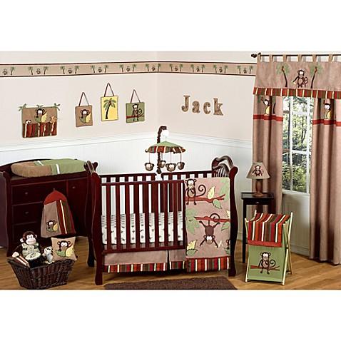 Sweet Jojo Designs Monkey Crib Bedding Collection Bed