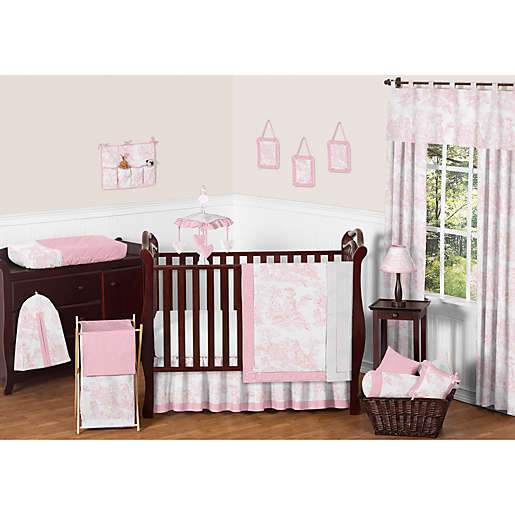 Sweet Jojo Designs Pink French Toile Crib Bedding Collection Bed Bath Beyond