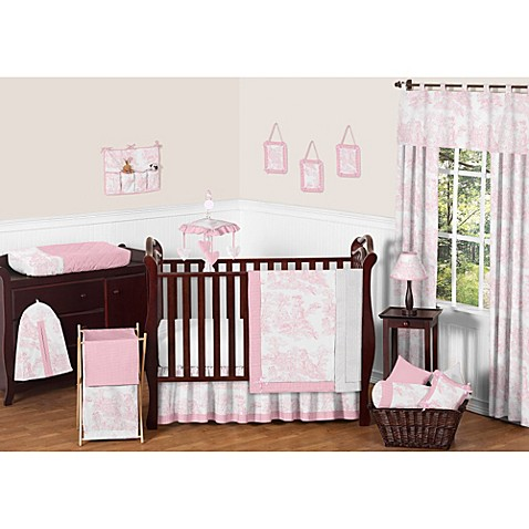 Sweet Jojo Designs Pink French Toile 11 Piece Crib Bedding