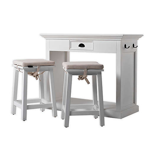 Novasolo Halifax Kitchen Table Set With Stools And Cushions Bed Bath Beyond