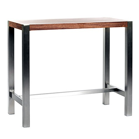 Moe 39 S Home Collection Riva Bar Table In Walnut