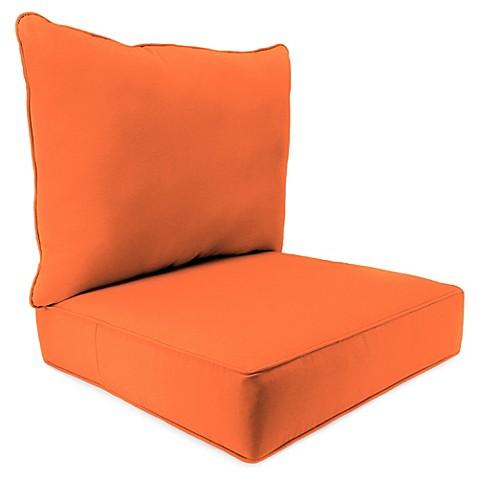 24 Inch X 24 Inch 2 Piece Deep Seat Chair Cushion In Sunbrellau0026reg