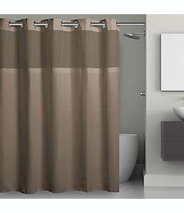 Cortina de baño de poliéster de Hookless® de 1.87 x 1.87 m color café pardo desierto