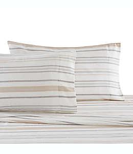 Set de sábanas king UGG® a rayas en neutro