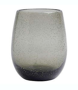 Copa sin tallo de vidrio Bee & Willow Home™ con diseño de burbujas color grafito
