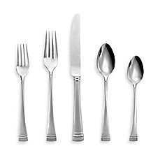 image of Lenox® Federal Platinum Frosted 5-Piece Flatware Place Setting