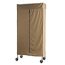 Image Of Commercial Grade Garment Rack With Tweed Cover