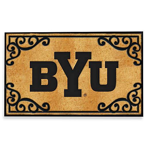 The Memory Company Brigham Young University Coir Fiber Door Mat