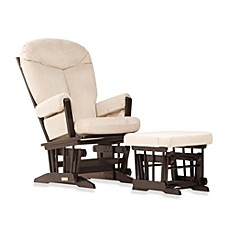 image of dutailier ultramotion bella classic glider and ottoman in buckwheat