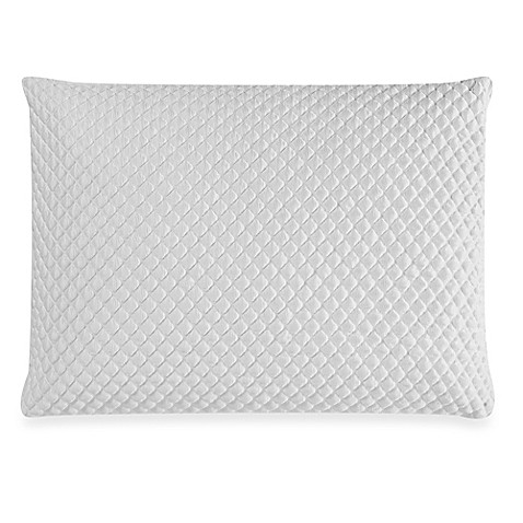 Therapedic Memory Foam Traditional Pillow : Therapedic TruCool Memory Foam Back/Stomach Sleeper Pillow - Bed Bath & Beyond