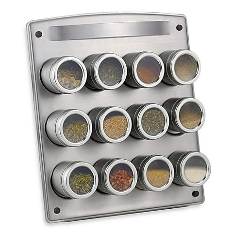 Kamenstein® Magnetic 12-Jar Spice Rack with Easel - Bed Bath