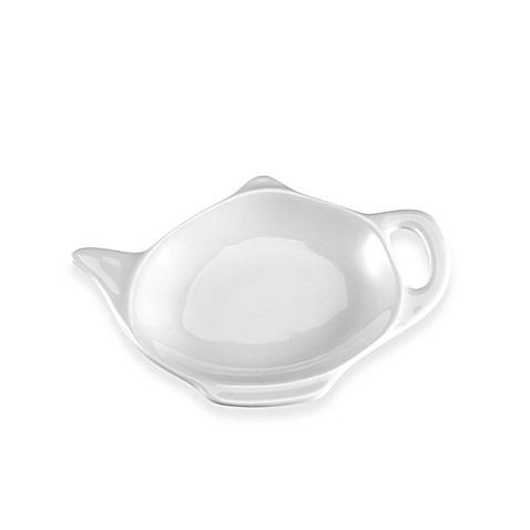 Everyday White® by Fitz and Floyd® Teapot Tea Bag Caddy