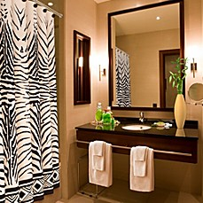 image of Zebra Print 70-Inch x 72-Inch Shower Curtain