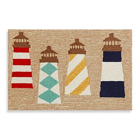 Trans Ocean Frontporch Lighthouses Door Mat Bed Bath