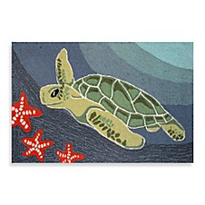 image of Trans-Ocean Frontporch Sea Turtle Indoor/Outdoor Accent Rug