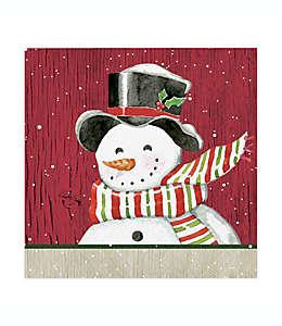 Servilletas de papel Fiddlestix Snowman