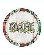 Platos desechables de papel Noel, 12 piezas
