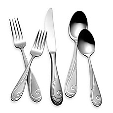 image of Yamazaki® Platinum Wave 5-Piece Flatware Place Setting