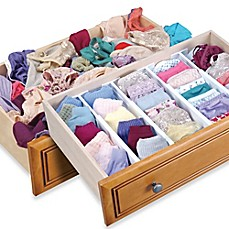 image of Dream Drawer™ Expandable Spring Loaded Drawer Dividers (Set of 2)