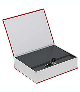 Caja de seguridad grande Honeywell® con diseño de libro en azul