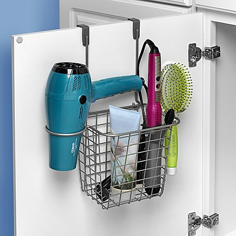 image of org spectrum grid over the door styling caddy - Bathroom Cabinets Bed Bath And Beyond