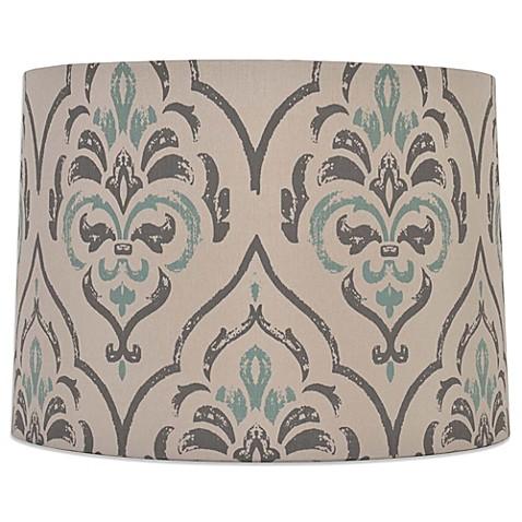 Mix match medium 15 inch damask drum lamp shade in greyteal bed mix match medium 15 inch damask drum lamp shade in greyteal aloadofball Image collections