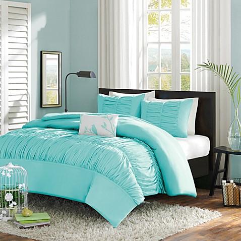 mizone mirimar comforter set in blue - bed bath & beyond