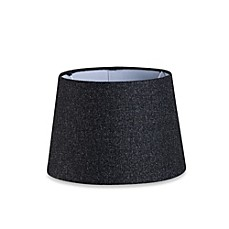 Image Of Mix Match Small 10 Inch Hardback Drum Lamp Shade In Black