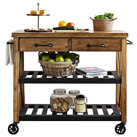 Crosley Roots Rolling Rack Industrial Kitchen Cart - Bed Bath & Beyond