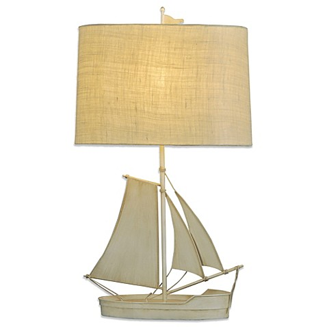 coastal sailboat table lamp add the perfect touch of nautical charm to. Black Bedroom Furniture Sets. Home Design Ideas