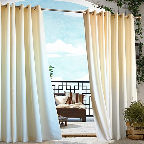84-Inch  Gazebo Outdoor Curtain in Natural