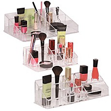 image of Clear Multi-Compartment Cosmetic Organizers