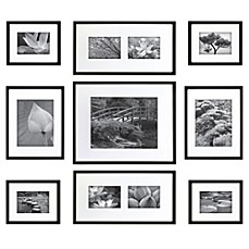 image of gallery perfect 9 piece matted wall frame kit