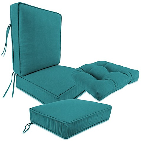 Bed Bath Beyond Gel Seat Cushion Outdoor Seat Cushion Collection In Husk Texture Lagoon